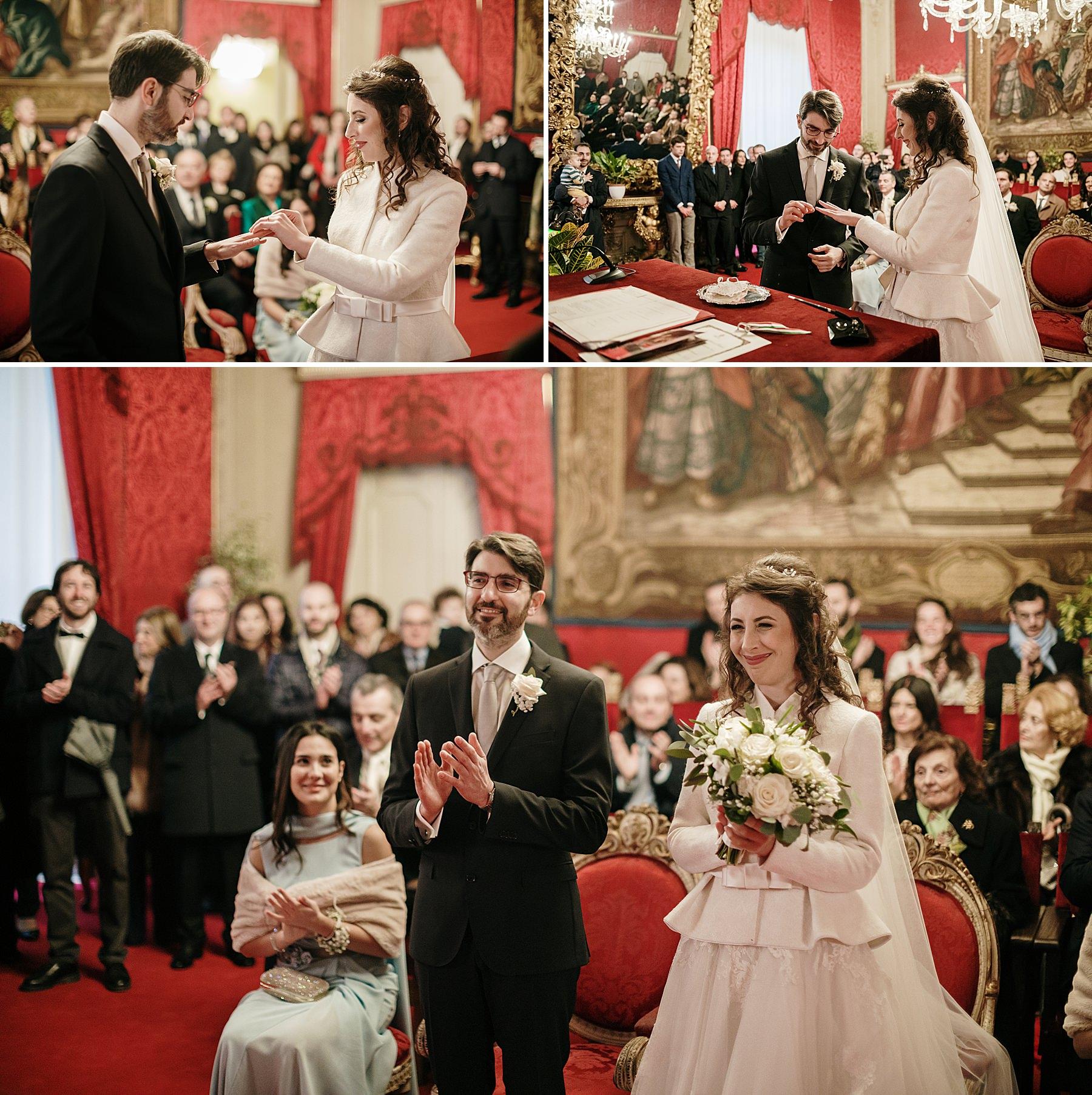 Matrimonio a Dicembre Palazzo Vecchio Firenze Sala Rossa