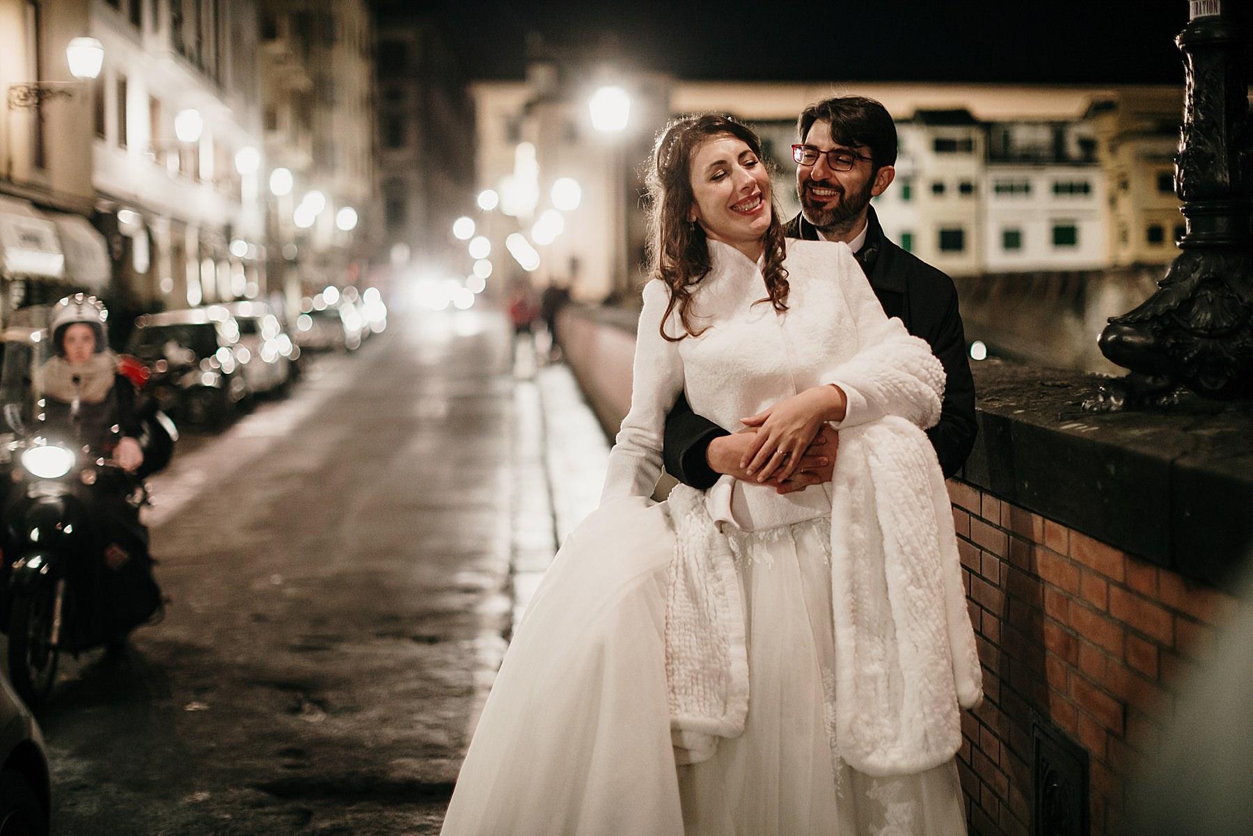 sposi in centro a Firenze a Natale