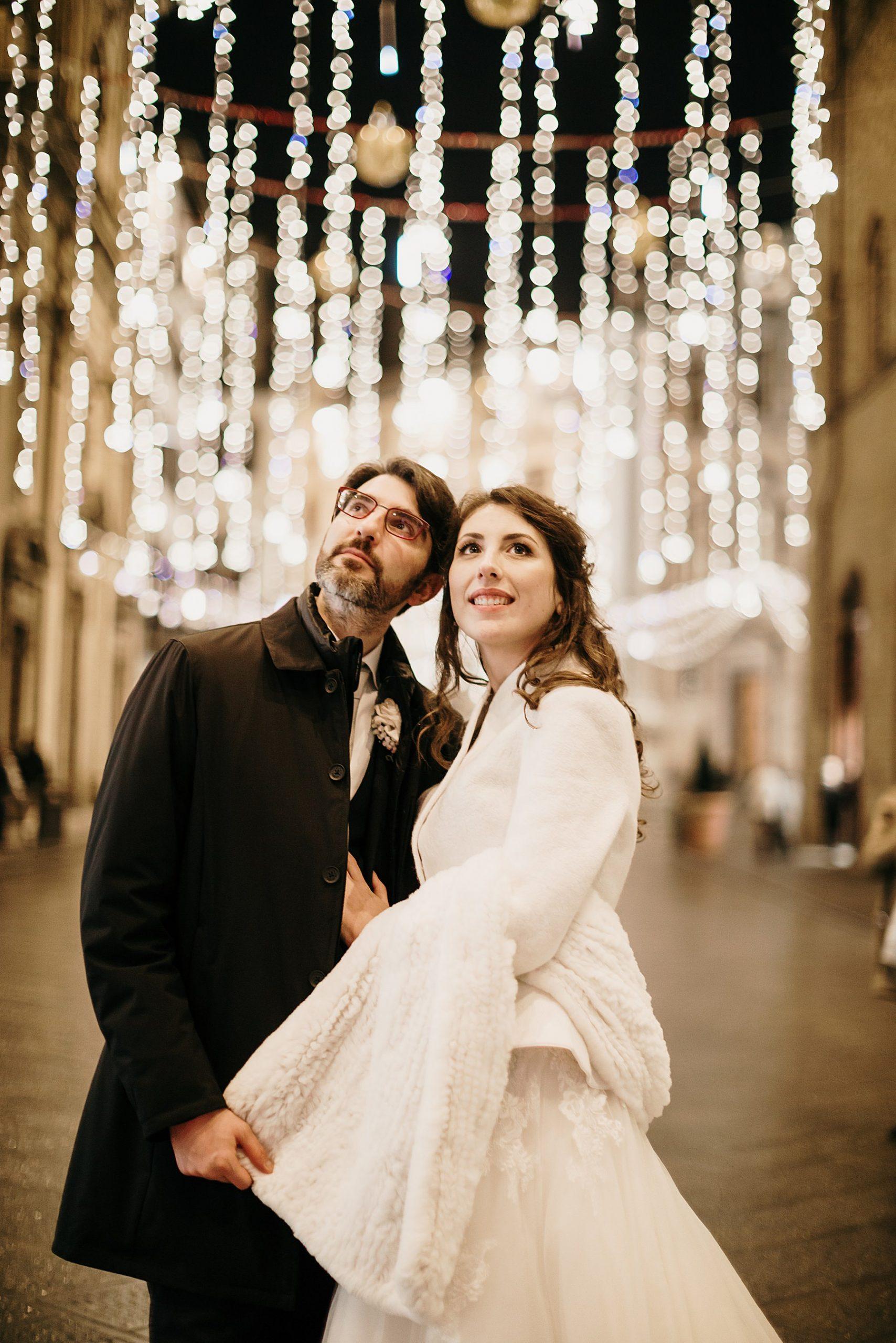 Matrimonio a Palazzo Vecchio e Palazzo Borghese sposo e sposa Dicembre