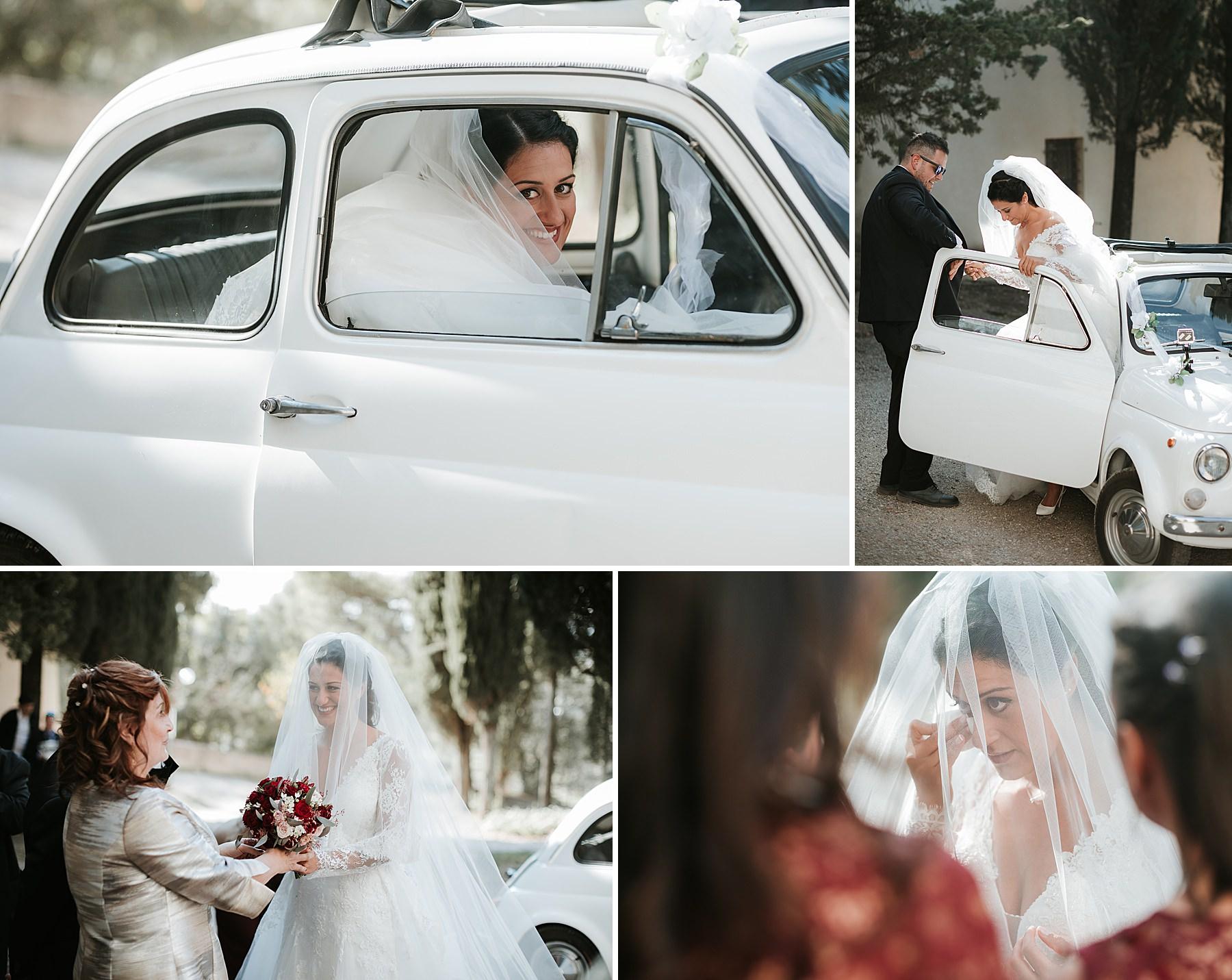 Matrimonio romantico nel chianti fiat 500