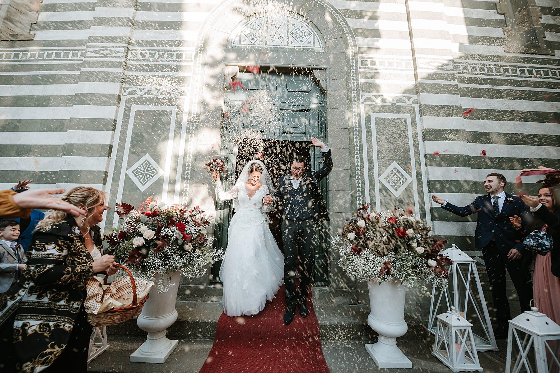 Matrimonio romantico nel chianti