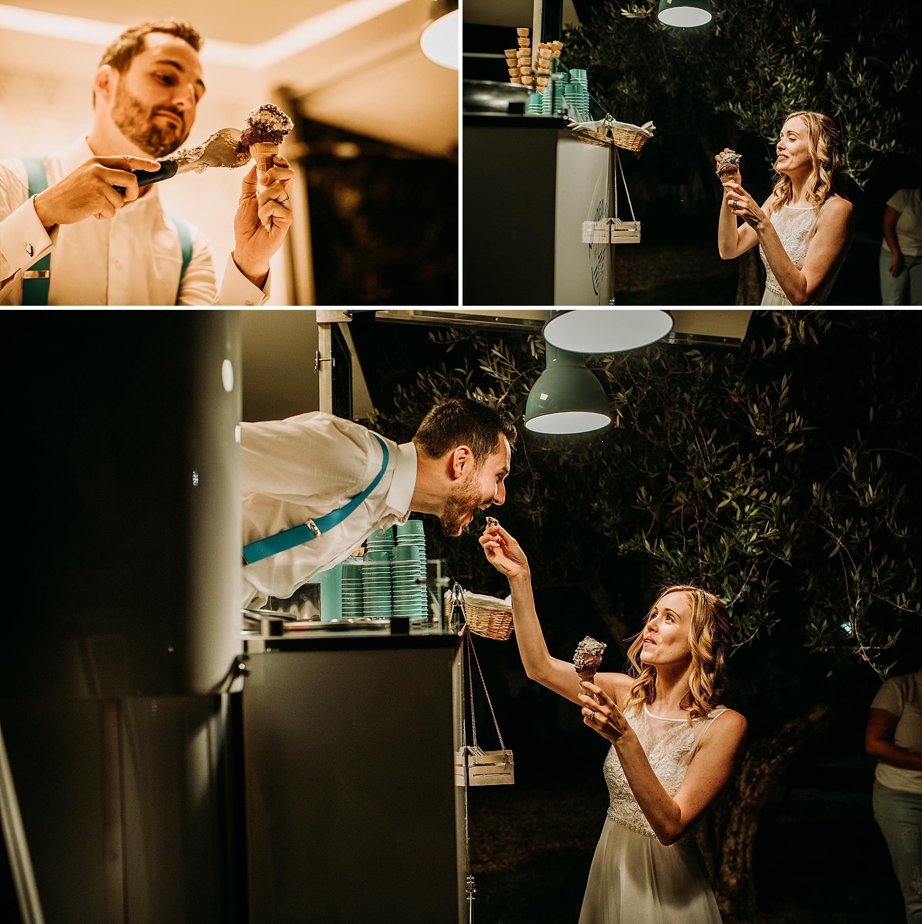 Matrimonio nel Chianti Impruneta Firenze Agriturismo I Viticci party gelato