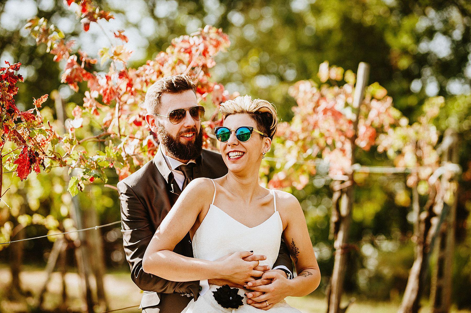 sposi in autunno in Mugello