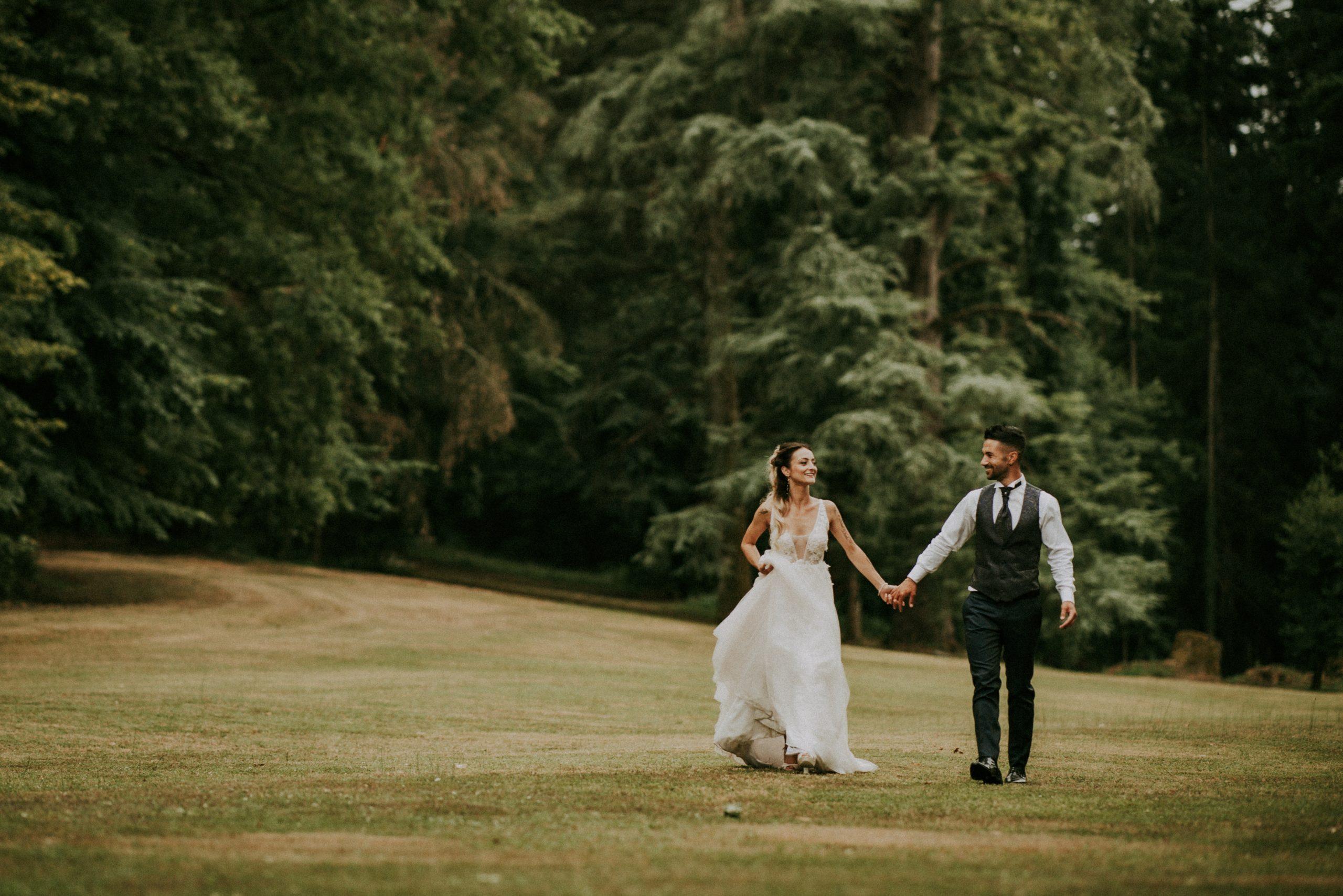 shooting camminata sposi nel parco di Villa di Corte Mugello