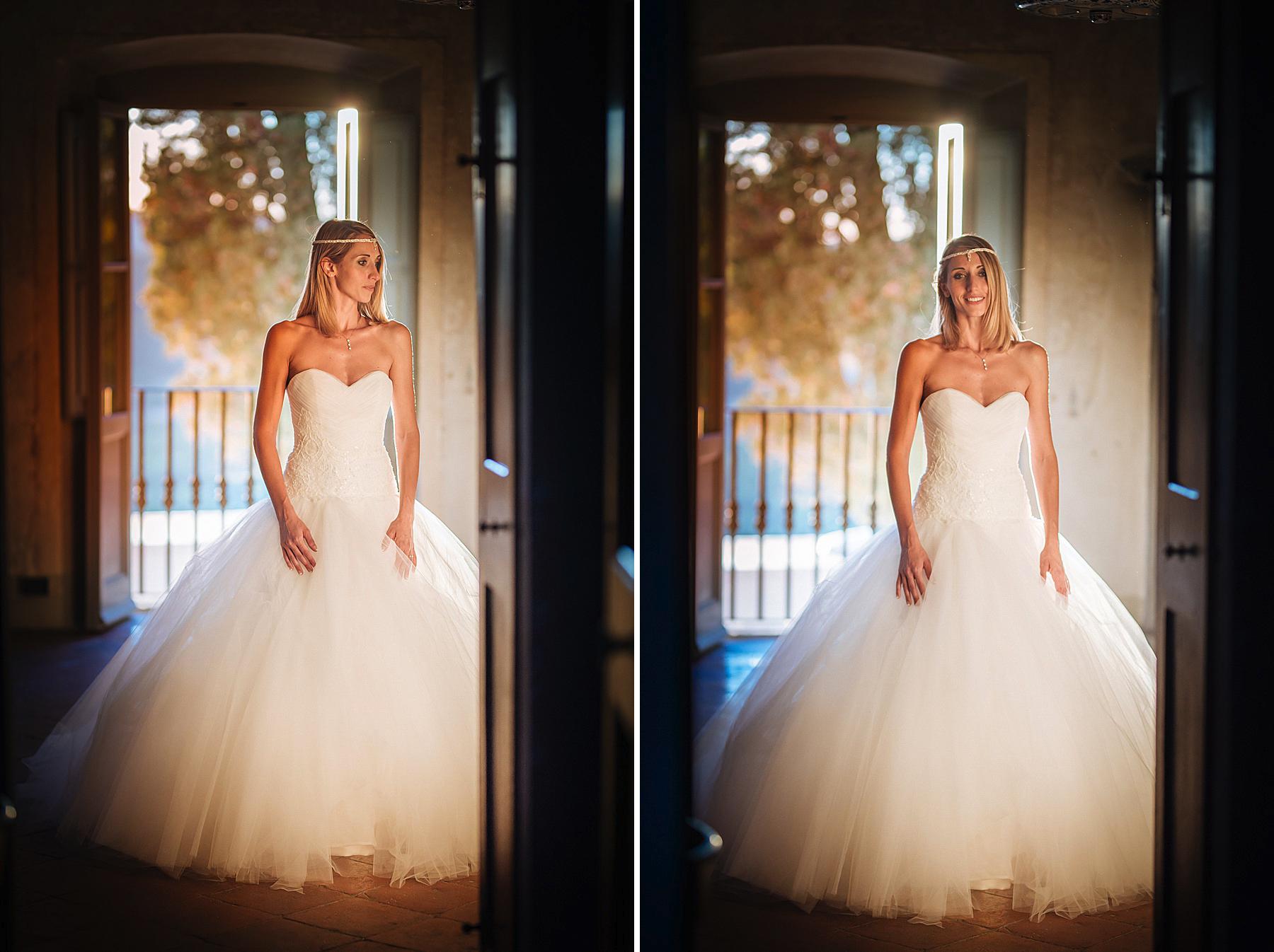 Una bellissima sposa in un matrimonio a villa di Bivigliano a Vaglia