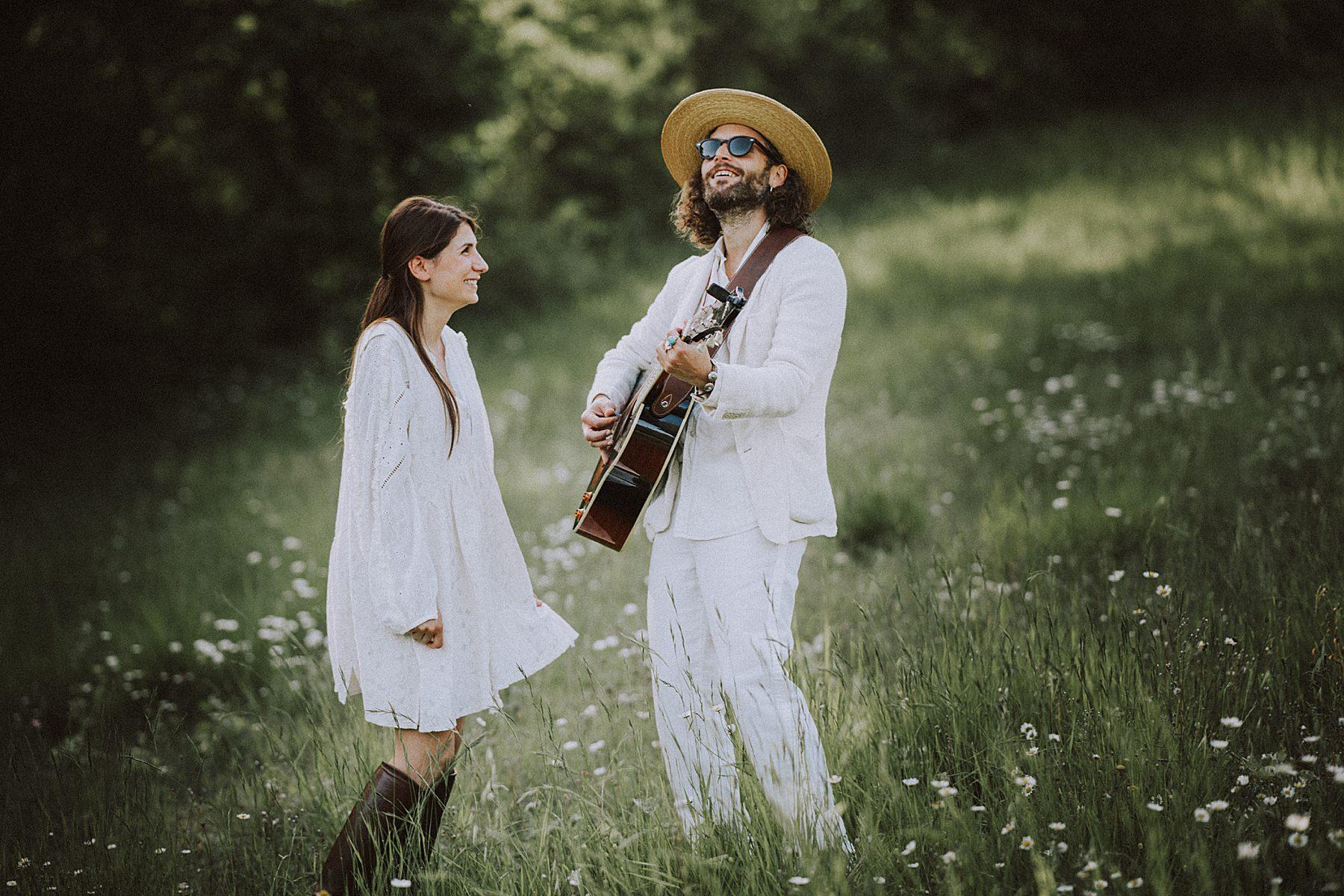pre-wedding con chitarra